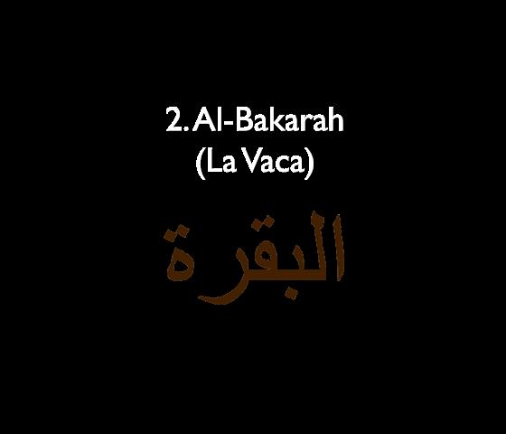 2. Al-Baqarah (La Vaca)
