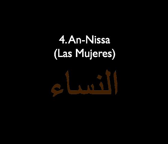 4. An-Nissa (Las Mujeres)