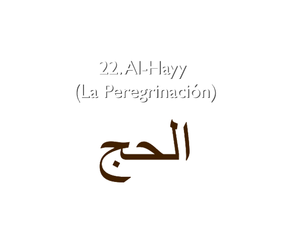 22. Al-Hayy (La Peregrinación)