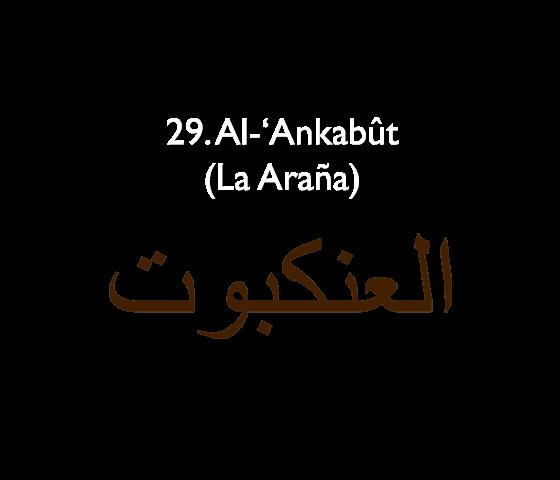 29. Al-'Ankabût (La Araña)