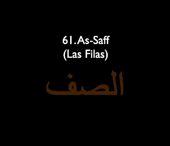 61. As-Saff (Las Filas)